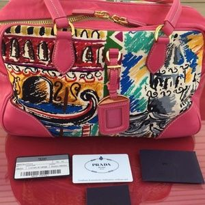 Limited Edition Canapa St Venez Handbag Bright Pin